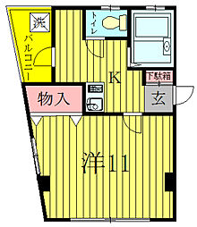 明原マンション森田[2階]の間取り