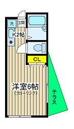 サザンウィンズ横浜[104号室]の間取り