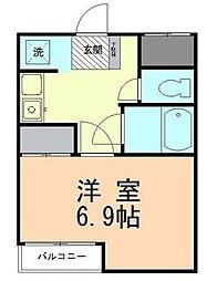 レイクトップ鶴川[2階]の間取り