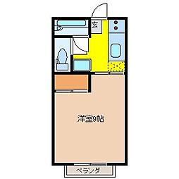 広島県東広島市八本松町米満徳政の賃貸アパートの間取り