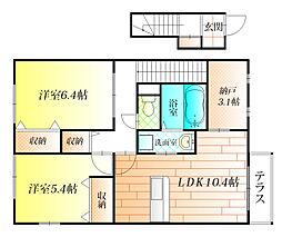 Wood lark桃山台[2階]の間取り