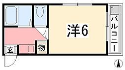 兵庫県姫路市手柄2丁目の賃貸アパートの間取り