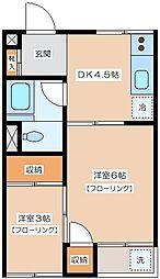 大嶺マンション[302号室]の間取り