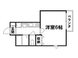 プレサンス京都御所東[2階]の間取り