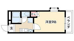 愛知県日進市梅森町北面田の賃貸アパートの間取り