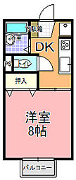 桜川チェリーハイツ[110号室]の間取り