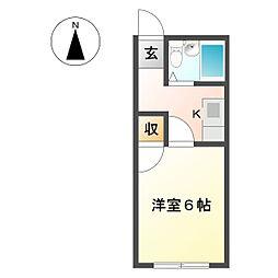 コーポ第2椎名崎[1階]の間取り
