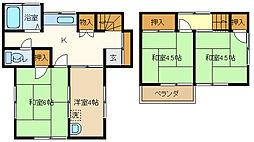 [一戸建] 埼玉県春日部市備後東7丁目 の賃貸【/】の間取り