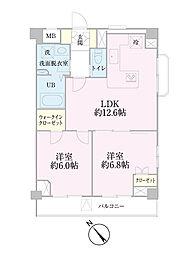 中新井サンライトマンション[508号室]の間取り