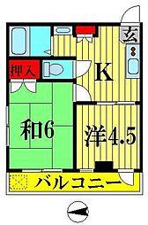 高橋ビル[405号室]の間取り