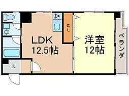 メゾン鶴舞[702号室]の間取り