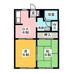 フレグランス松源寺II[1階]の間取り