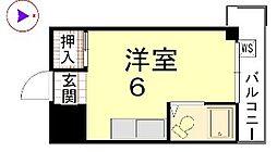カーサ船岡山[306号室]の間取り