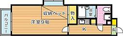 第13エルザビル[6階]の間取り