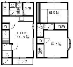 [テラスハウス] 静岡県浜松市東区上西町 の賃貸【/】の間取り