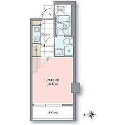 ホテル&レジデンス六本木 住居[9階]の間取り