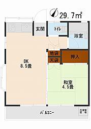 第II東栄コーポ[205号室]の間取り