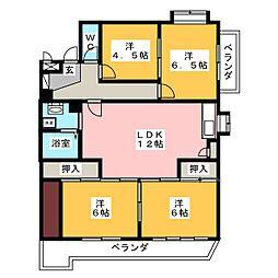 エトワール藤[2階]の間取り