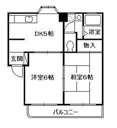 グリーンハイツ小澤[2階]の間取り