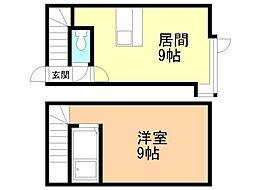 サンテラス文京台弐番館 1階1LDKの間取り
