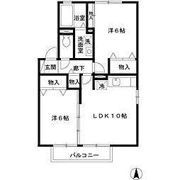 メルヴェイユ B[2階]の間取り