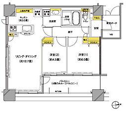 センチュリー水戸サウスゲートタワー(907号室)[907号室]の間取り
