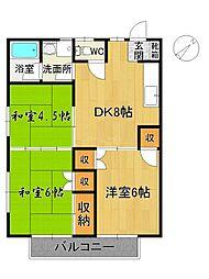 ソレイユスヤマ[1階]の間取り