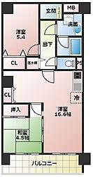 ストークマンション内本町[406号室]の間取り