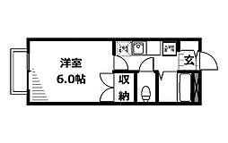 ヤガラハイツ[2階]の間取り