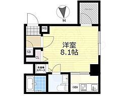 東武亀戸線 亀戸水神駅 徒歩9分の賃貸マンション 11階1Kの間取り