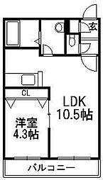 北海道札幌市西区発寒八条11丁目の賃貸マンションの間取り
