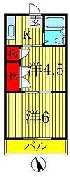 宮川コーポ[2階]の間取り