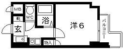 ハートフル藤井寺[407号室号室]の間取り