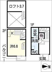 [タウンハウス] 愛知県名古屋市北区清水5丁目 の賃貸【/】の間取り