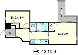 GA雅[3階]の間取り