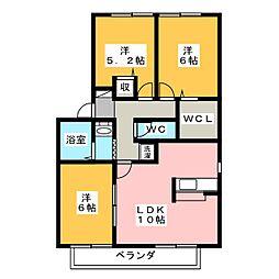 フレマリール森崎 B棟[2階]の間取り