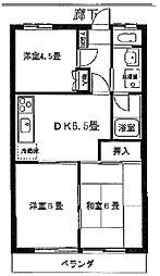 シャトレー澤広[209号室]の間取り