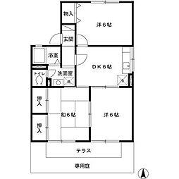 兵庫県姫路市北八代1の賃貸アパートの間取り