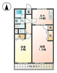 愛知県名古屋市名東区一社1丁目の賃貸マンションの間取り