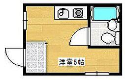 大阪府大阪市西成区橘2丁目の賃貸マンションの間取り
