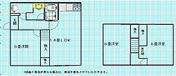 [一戸建] 茨城県取手市双葉1丁目 の賃貸【/】の間取り