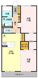 テラス東菅野[2階]の間取り