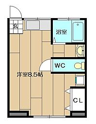 Chambre[202号室]の間取り