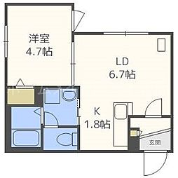 仮)東札幌1・6B[3階]の間取り