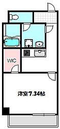 Osaka Metro谷町線 守口駅 徒歩2分の賃貸マンション 10階1Kの間取り
