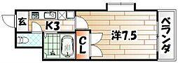 トーケン設計戸畑駅前II[4階]の間取り