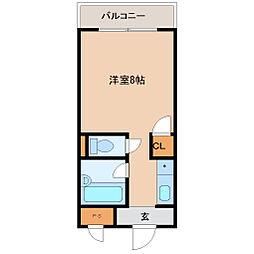 兵庫県尼崎市大物町1丁目の賃貸マンションの間取り