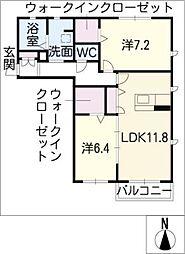 パルクヴェストH[2階]の間取り