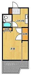 パジオン櫛原[3階]の間取り