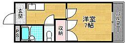 エリトール津田[3階]の間取り